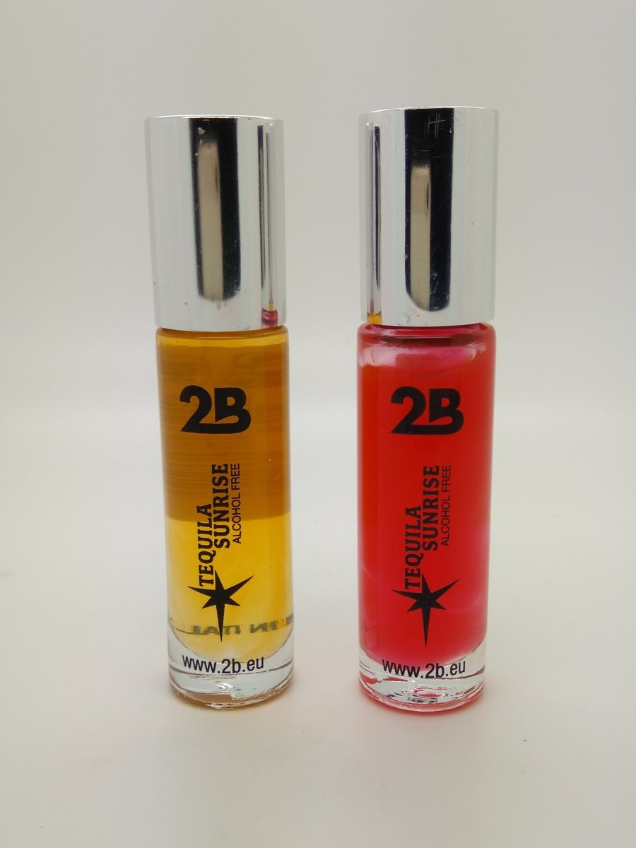 2B-lipgloss rol on cocktail 24 Tequila Sunrise - set van 2