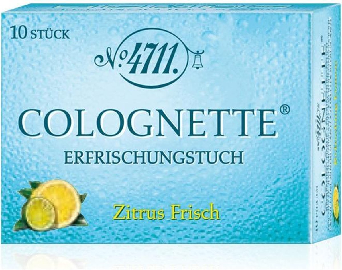 4711 Acqua Colonia Lemon & Ginger Verfrissende Doekjes 10 st