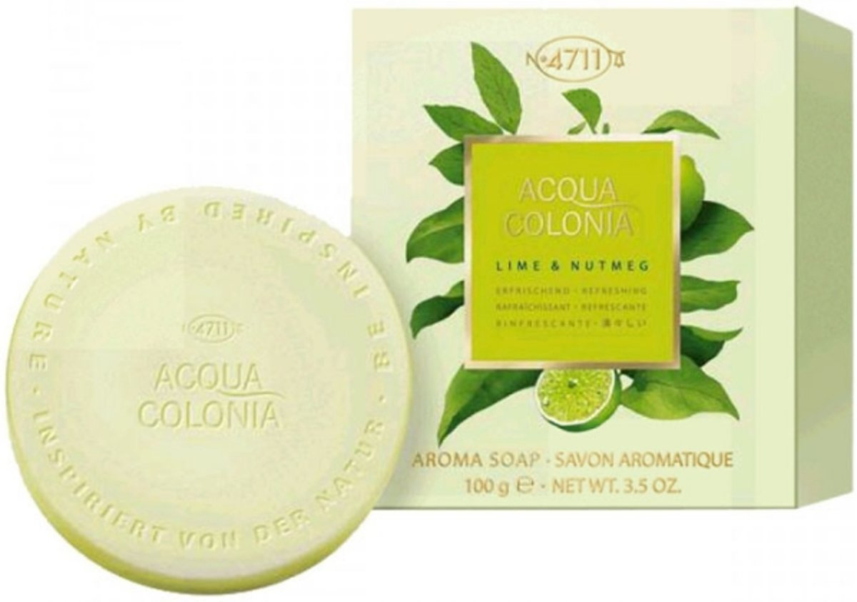 4711 Acqua Colonia Lime & Nutmeg Zeep 100 gr