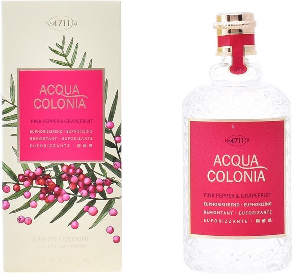 MULTI BUNDEL 2 flesjes 4711 ACQUA COLONIA Pink Pepper & Grapefruit - eau de cologne - spray 170 ml