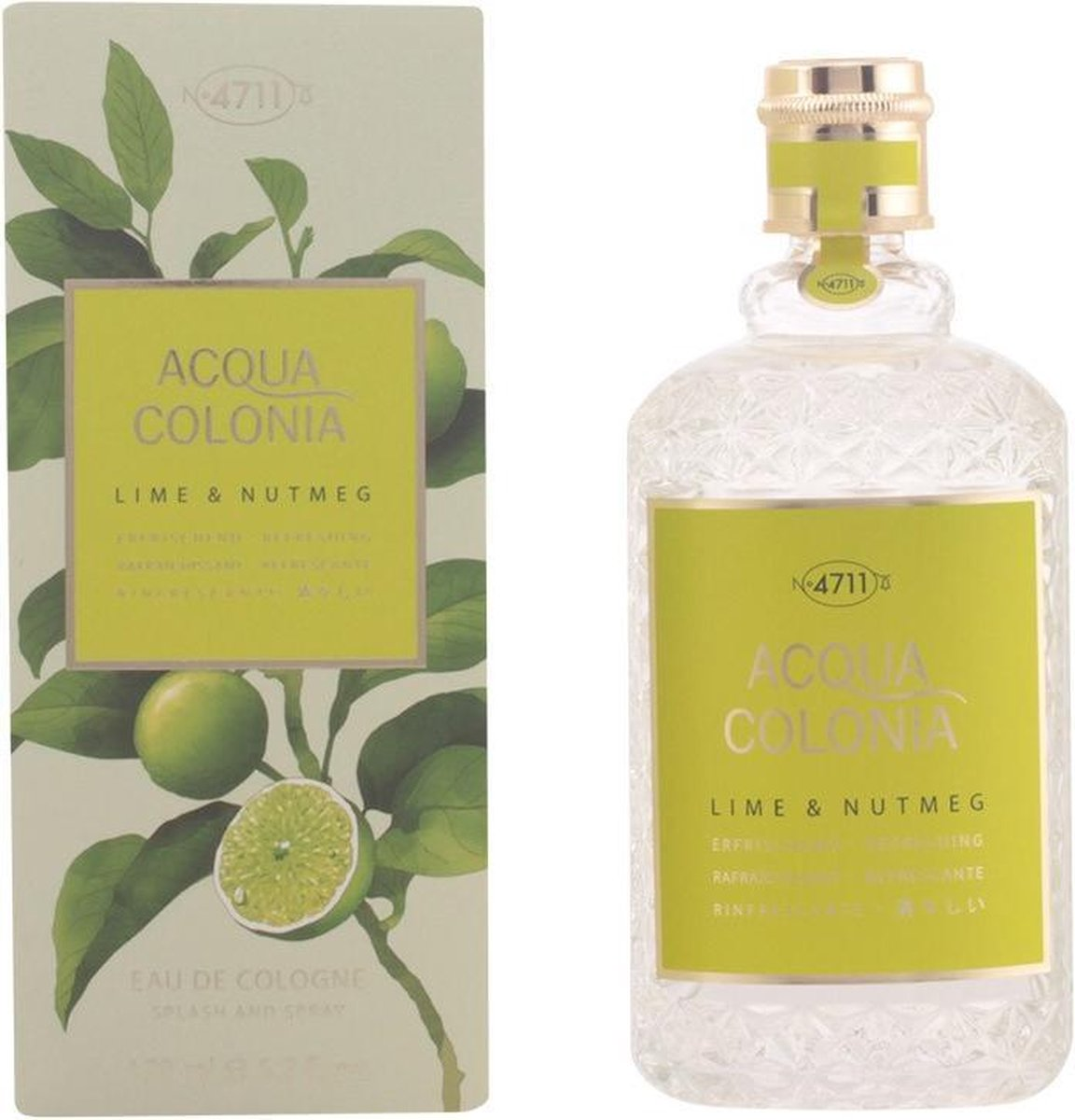 MULTI BUNDEL 2 stuks - 4711 - ACQUA cologne Lime & Nutmeg - eau de cologne - spray 170 ml
