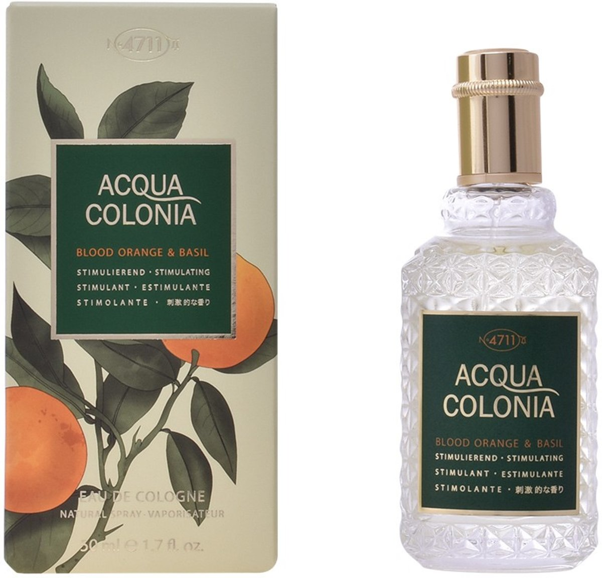 MULTI BUNDEL 2 stuks ACQUA colonia BLOOD ORANGE & BASIL Eau de Cologne Spray 50 ml