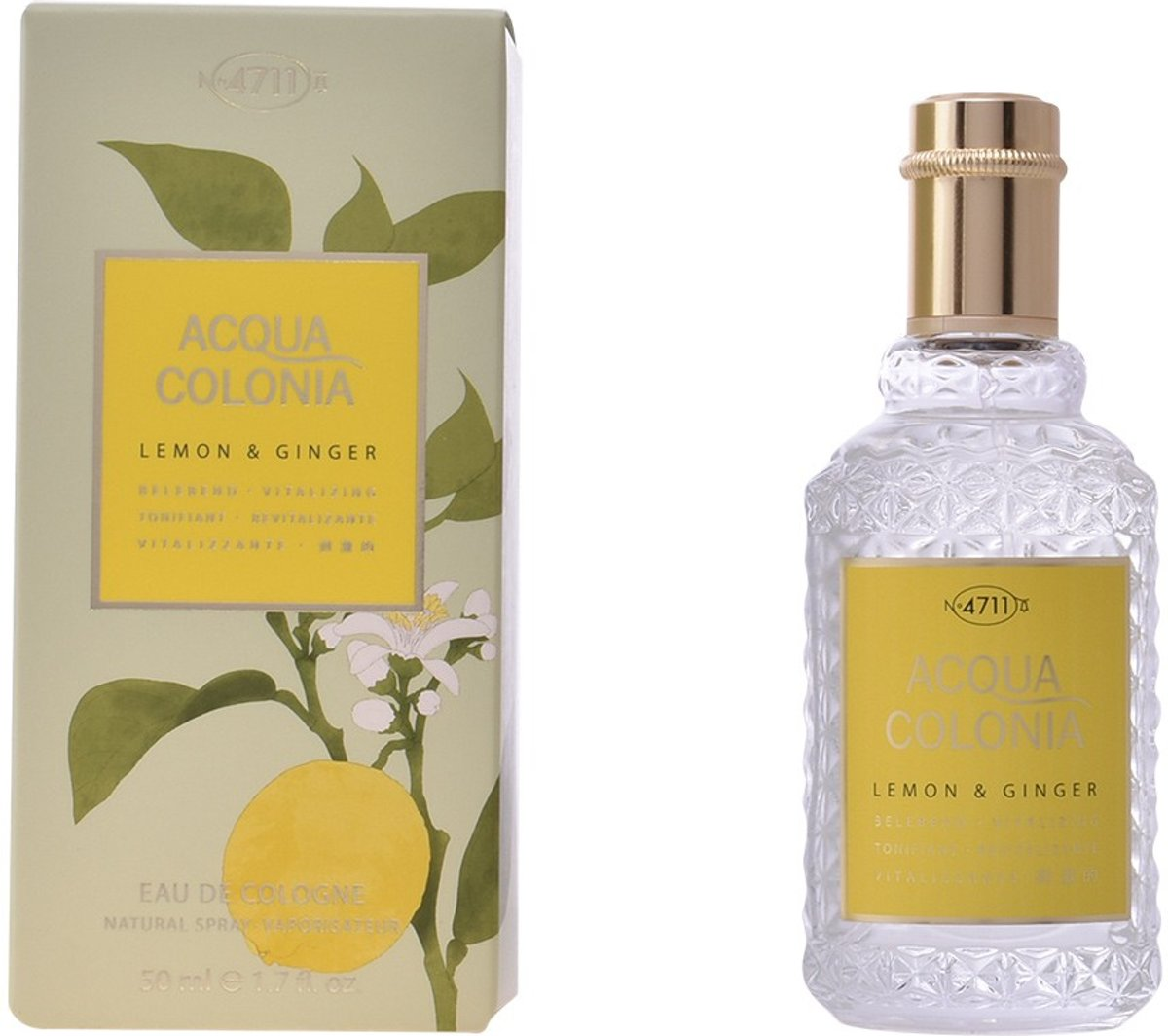 MULTI BUNDEL 2 stuks ACQUA colonia LEMON & GINGER Eau de Cologne splash & spray 50 ml
