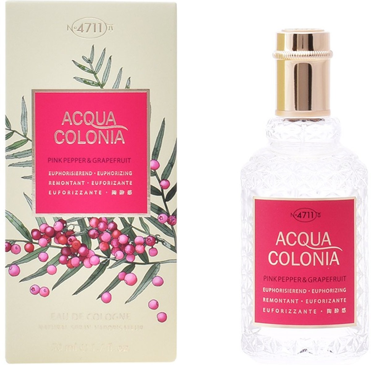 MULTI BUNDEL 2 stuks ACQUA colonia PINK PEPPER & GRAPEFRUIT Eau de Cologne Spray 50 ml