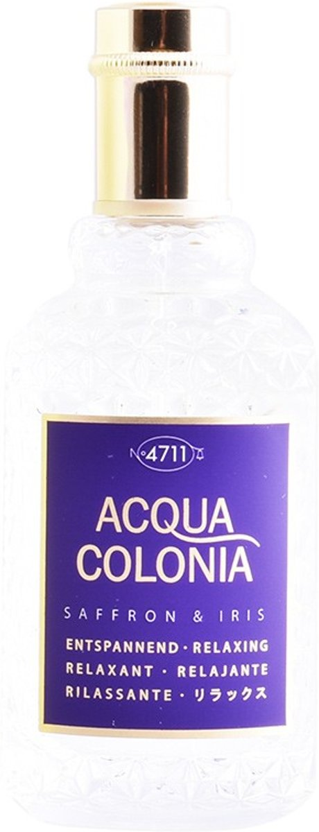 MULTI BUNDEL 2 stuks ACQUA colonia SAFFRON & IRIS eau de cologne spray 50 ml