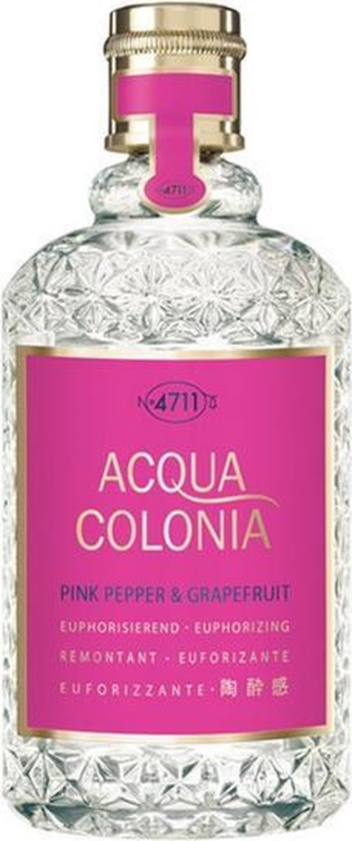 MULTIBUNDEL 2 stuks 4711 Acqua Colonia Pink Pepper And Grapefruit Eau De Cologne Spray 170ml