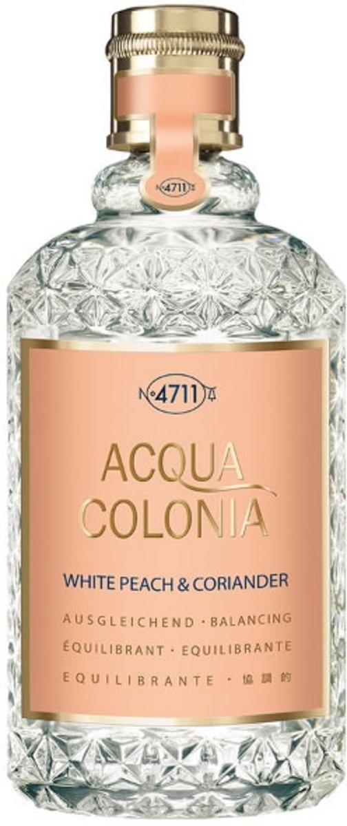 MULTIBUNDEL 3 stuks 4711 Acqua Colonia White Peach And Coriander Eau De Cologne Spray 170ml
