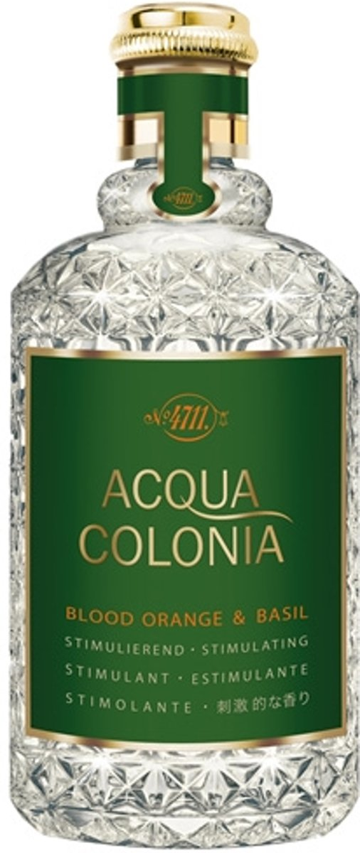 MULTIBUNDEL 4 stuks 4711 Acqua Colonia Blood Orange And Basil Eau De Cologne Spray 170ml