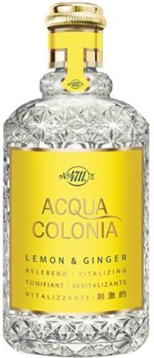 MULTIBUNDEL 4 stuks 4711 Acqua Colonia Lemon And Ginger Eau De Cologne Spray 170ml