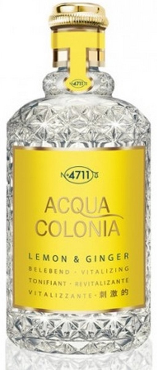 MULTIBUNDEL 4 stuks 4711 Acqua Colonia Lemon And Ginger Eau De Cologne Spray 50ml