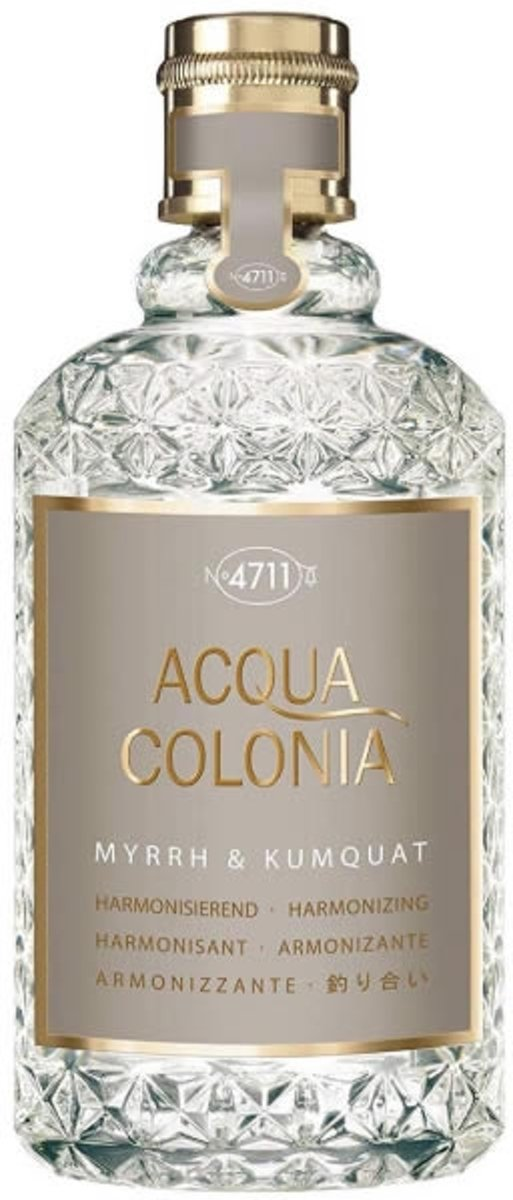 MULTIBUNDEL 4 stuks 4711 Acqua Colonia Myrrh & Kumquat Eau De Cologne Spray 50ml