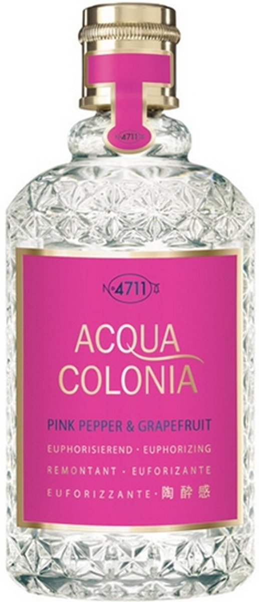 MULTIBUNDEL 4 stuks 4711 Acqua Colonia Pink Pepper And Grapefruit Eau De Cologne Spray 50ml
