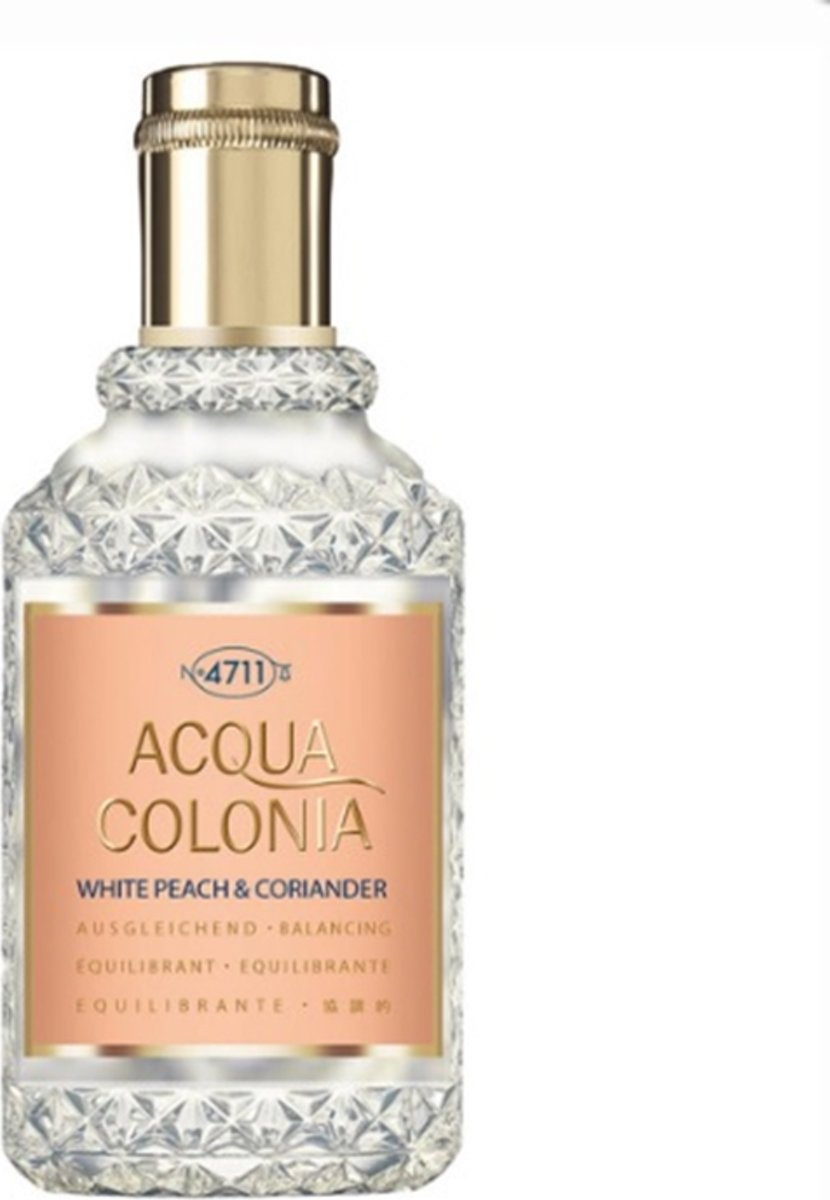 MULTIBUNDEL 4 stuks 4711 Acqua Colonia White Peach & Coriander Eau De Cologne Spray 50ml