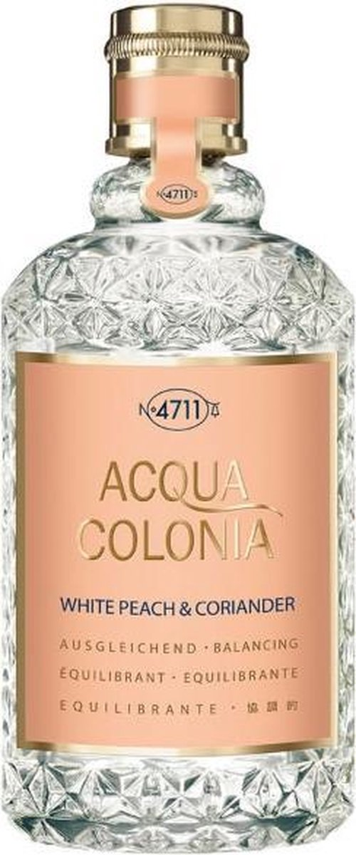 MULTIBUNDEL 5 stuks 4711 Acqua Colonia White Peach And Coriander Eau De Cologne Spray 170ml