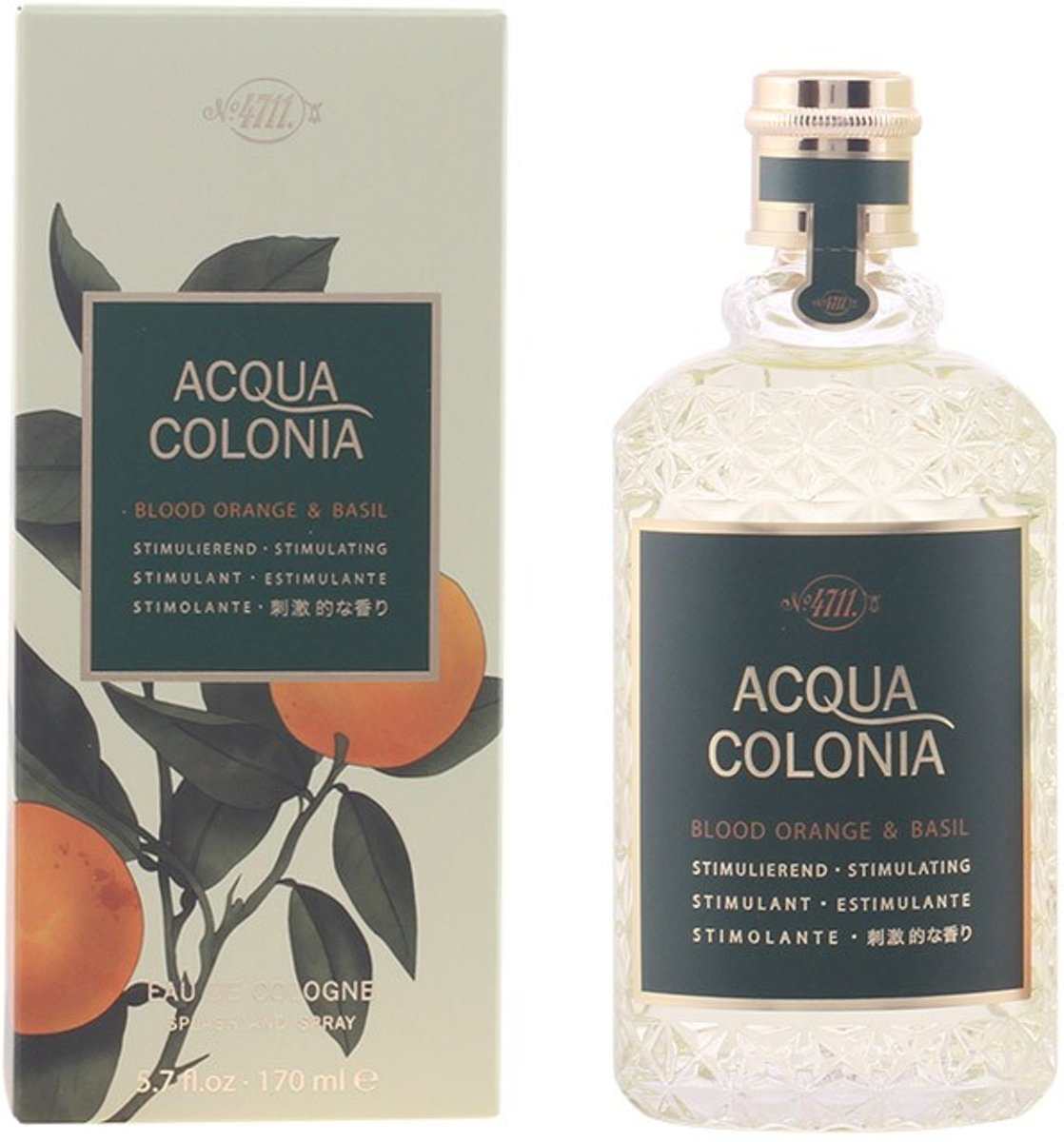 PROMO 2 stuks - 4711 - ACQUA cologne Blood Orange & Basil - eau de cologne - spray 170 ml