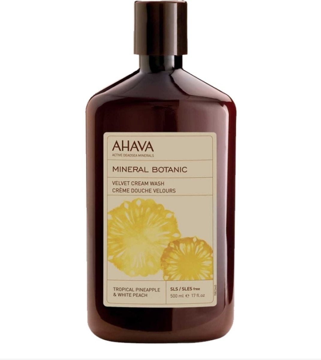 AHAVA Mineral Botanic Cream Wash Tropical Pineapple & White Peach Douchegel 500 ml