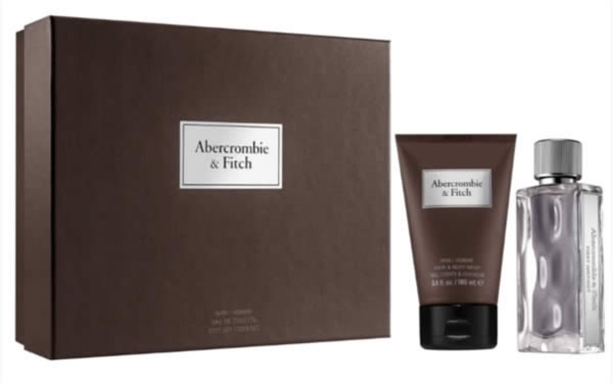 2 delige cadeau set Abercrombie & Fitch First Instinct Man Eau De Toilette Spray 100ml + Hair and body wash 200ml