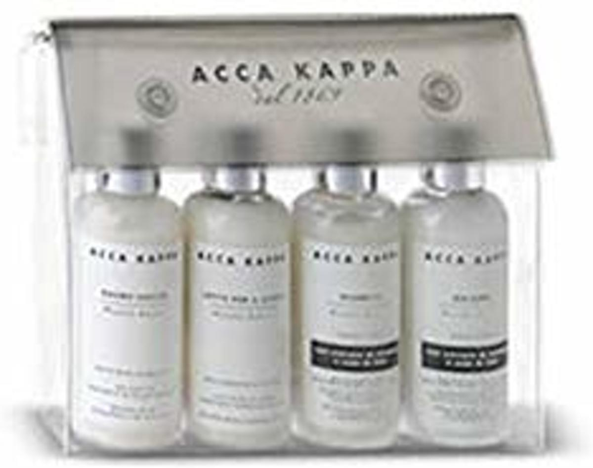 Acca Kappa White Moss Travel Kit 4pcs.