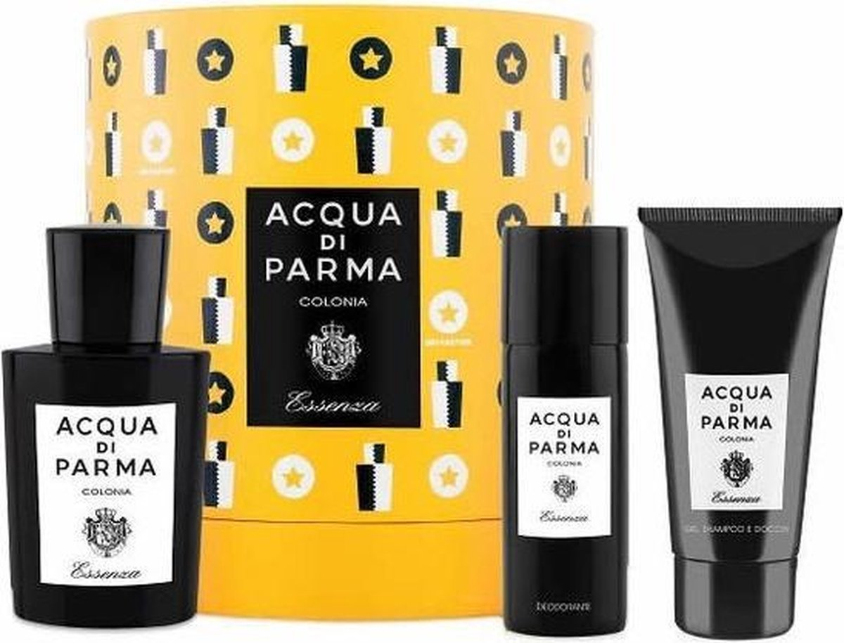 AQUA DI PARMA COLONIA ESSENZA X MAS COFFRET EDC 100ML+SG 75ML+DEODORANT SPRAY 50ML.2019