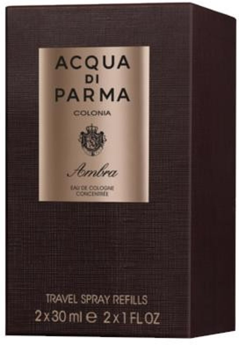 Acqua Di Parma Colonia Ambra Travel Spray Refills 2 x 30ml Eau de Cologne Concentrée