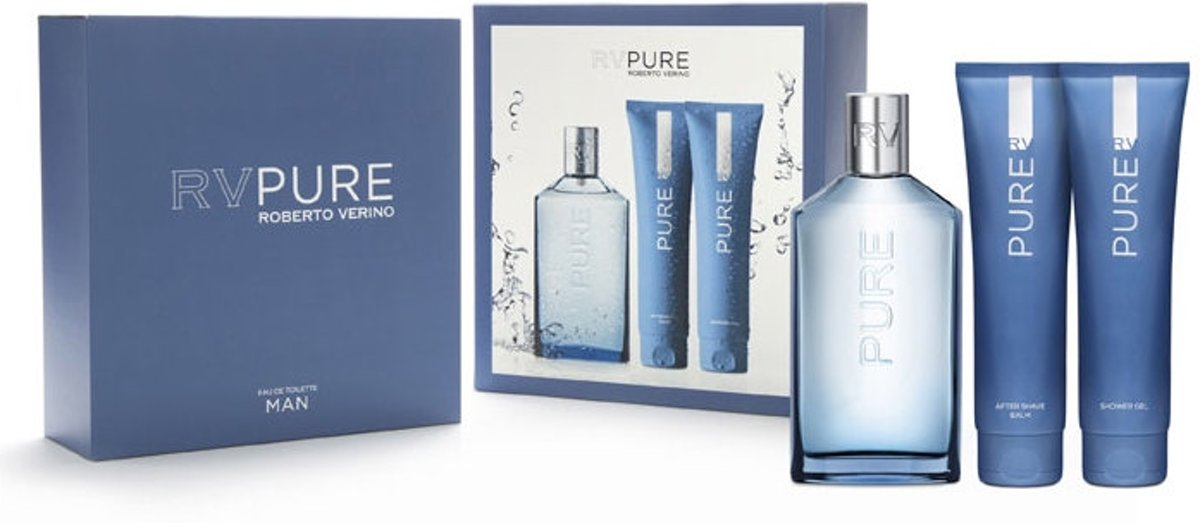 Adolfo Dominguez Roberto Verino Rv Pure Man Eau De Toilette Spray 150ml Set 3 Pieces 2016
