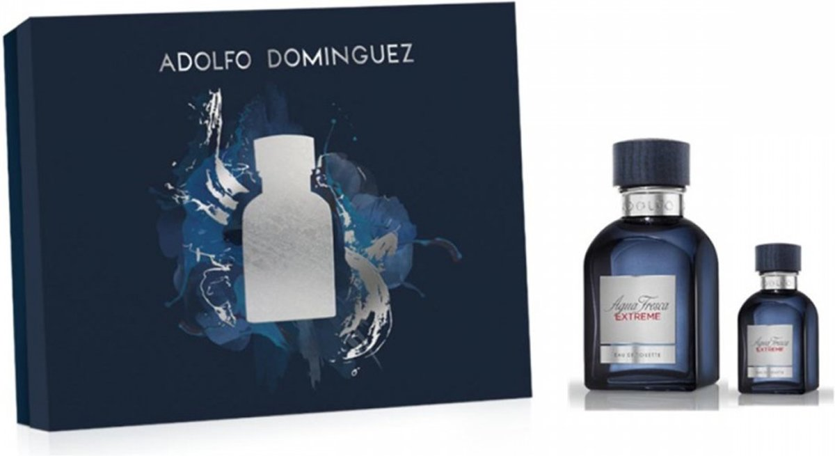 Adolfo Dominguez agua fresca extreme eau de toilette 120ml + eau de toilette 30ml spray