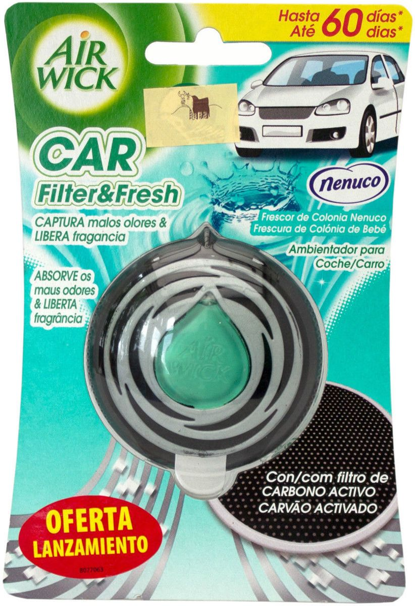 Airwick Car Filter & Fresh Luchtverfrisser Nenuco