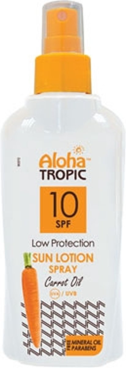 Aloha Tropic Zon Lotion Wortel Spray *SPF10* 200ml
