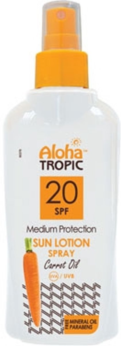 Aloha Tropic Zon Lotion Wortel Spray *SPF20* 200ml