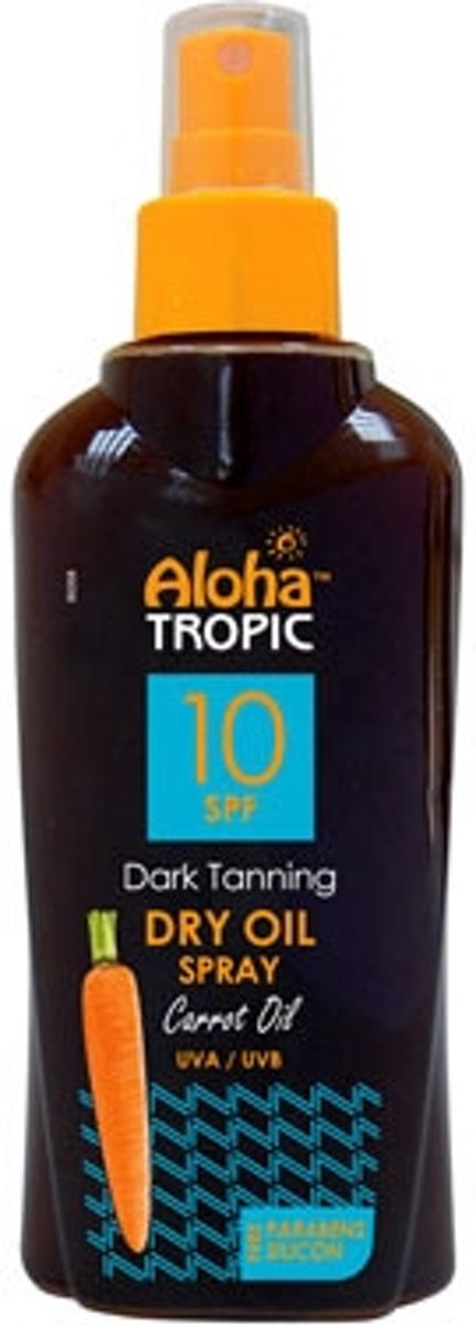 Aloha Tropic Zon Olie Wortel Spray *SPF10* 200ml