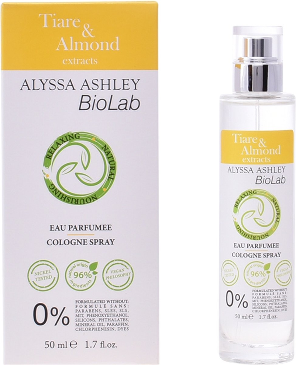 Alyssa Ashley Biolab Tiare And Almond Eau de Cologne 50ml Spray