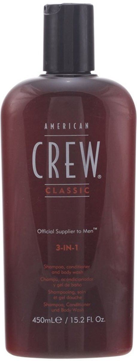 American Crew 3-in-1 Shampoo, Conditioner en Body Wash - 450ml