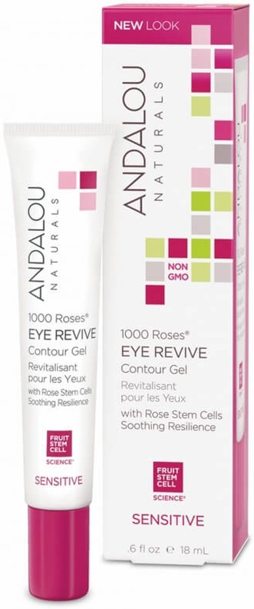 Andalou Naturals 1000 Roses Eye Revive Contour Gel - Sensitive 18ml.