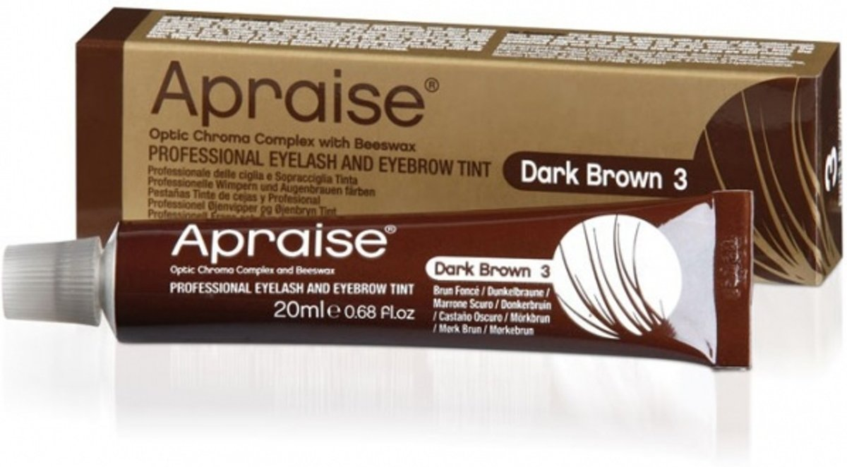 Apraise Eyelash And Eyebrow Tint Wenkbrauw- en wimperverf 20 ml - 3 - Dark Brown