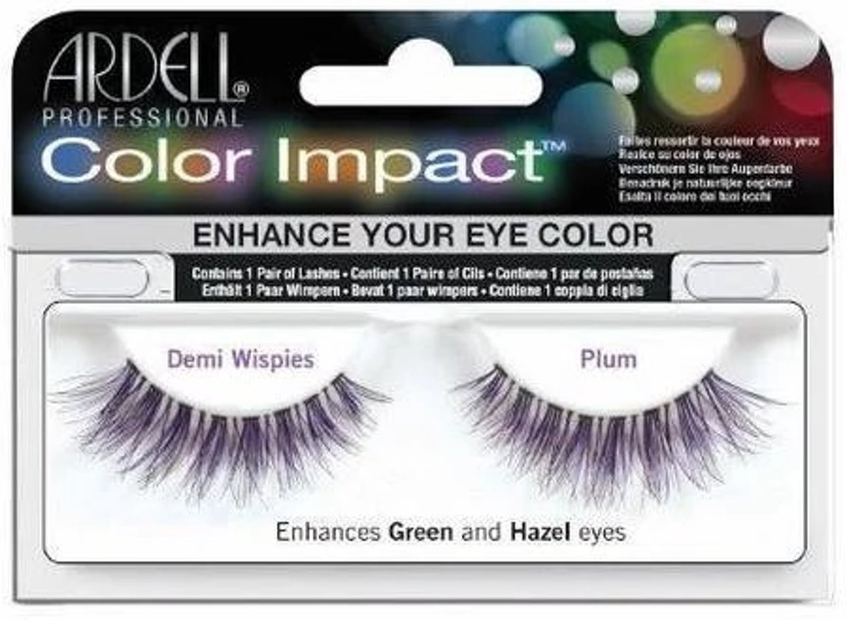 Ardell - Color Impact Lashes Demi Wispies Plum
