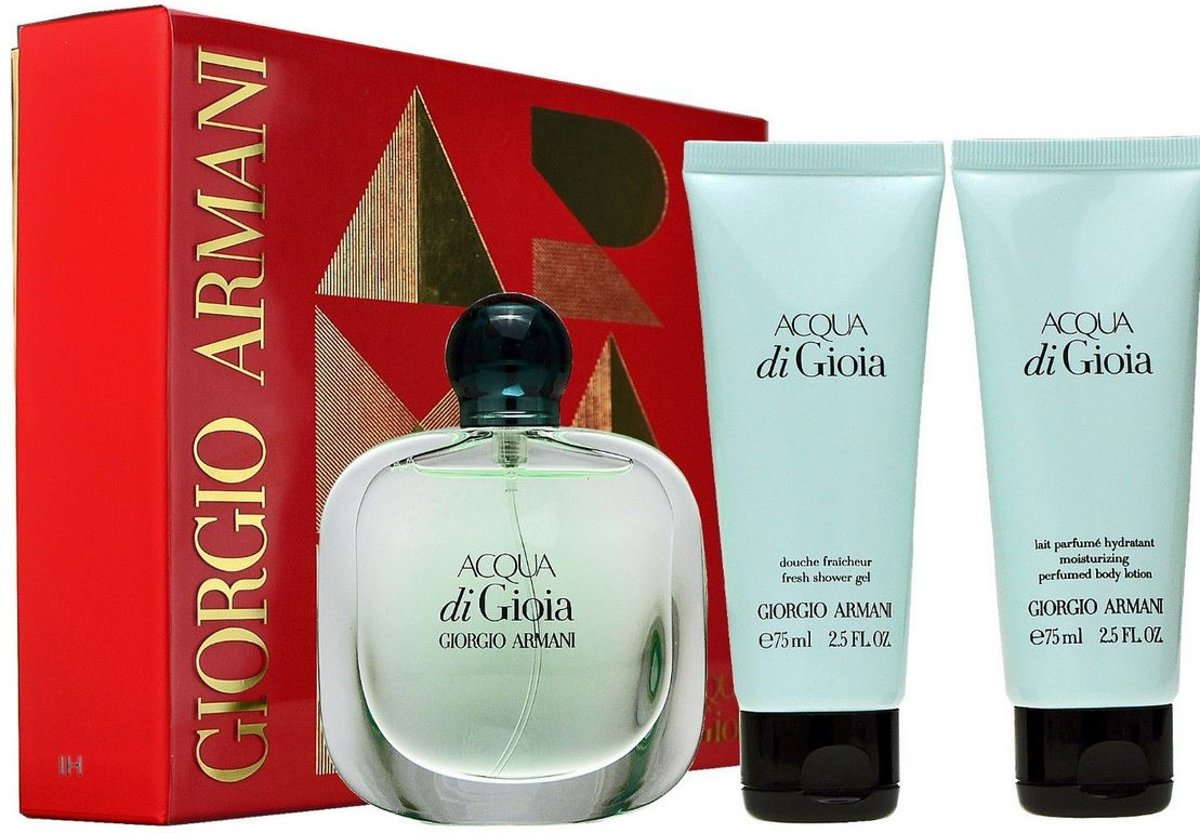 Armani - Eau de parfum - Acqua di Gioia 100ml eau de parfum + 75ml showergel + 75ml bodylotion - Gifts ml