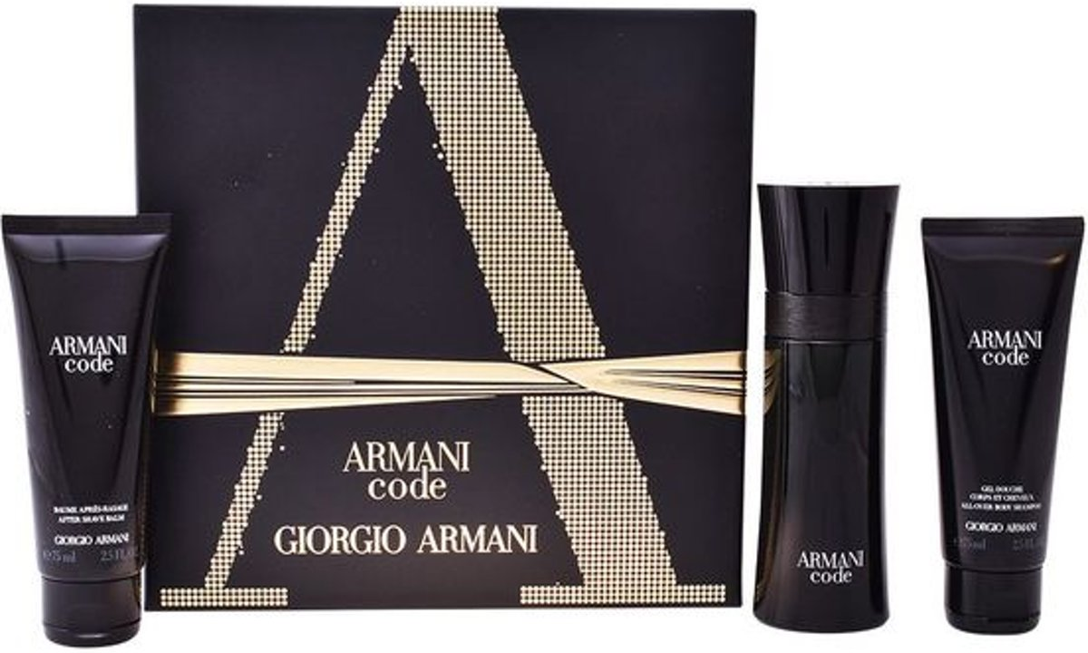 Armani - Eau de toilette - Code 75ml eau de toilette + 75ml showergel + 75ml aftershave balm - Gifts ml
