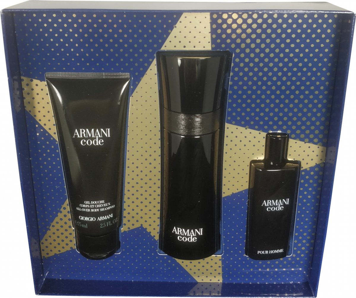 Armani - Eau de toilette - Code men 75ml eau de toilette + 15ml eau de toilette + 75ml showergel - Gifts ml