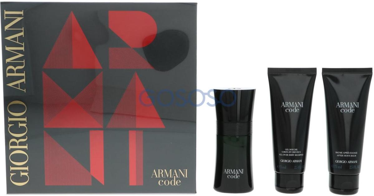 Armani Code Homme Giftset - 50 ml eau de toilette spray + 75 ml showergel + 75 ml aftershave balm - herenparfum
