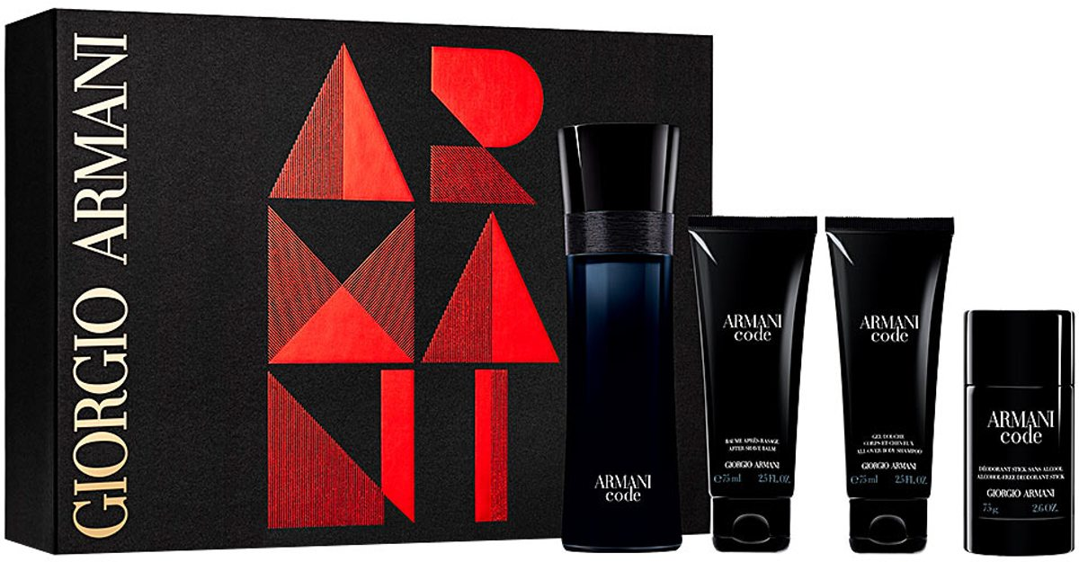Armani Code Men 125ml Edt + 75gr Deo + 75ml SG + 75ml ASB set