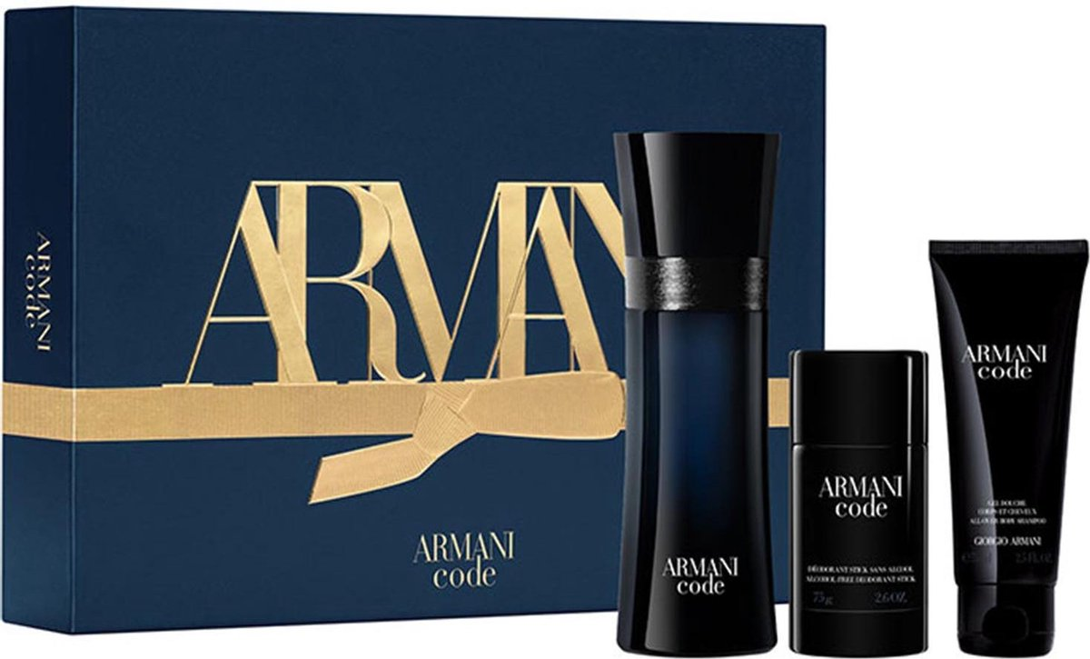 Armani code homme etv 125ml + gel ducha 75ml + desodorante stick 75ml