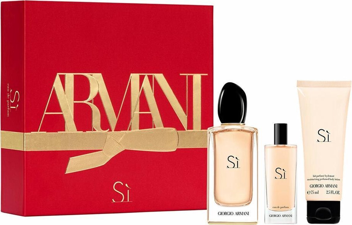 Giorgio Armani Si Eau de Parfum 100ml + Body Lotion 75ml + Mini 15ml