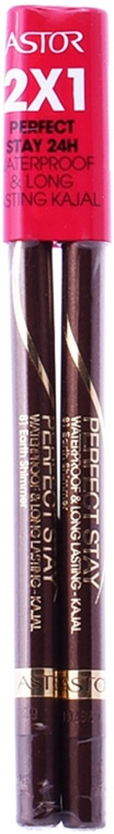 Astor Perfect Stay Waterproof And Long Lasting Kajal 81 Brown Set 2 Pieces
