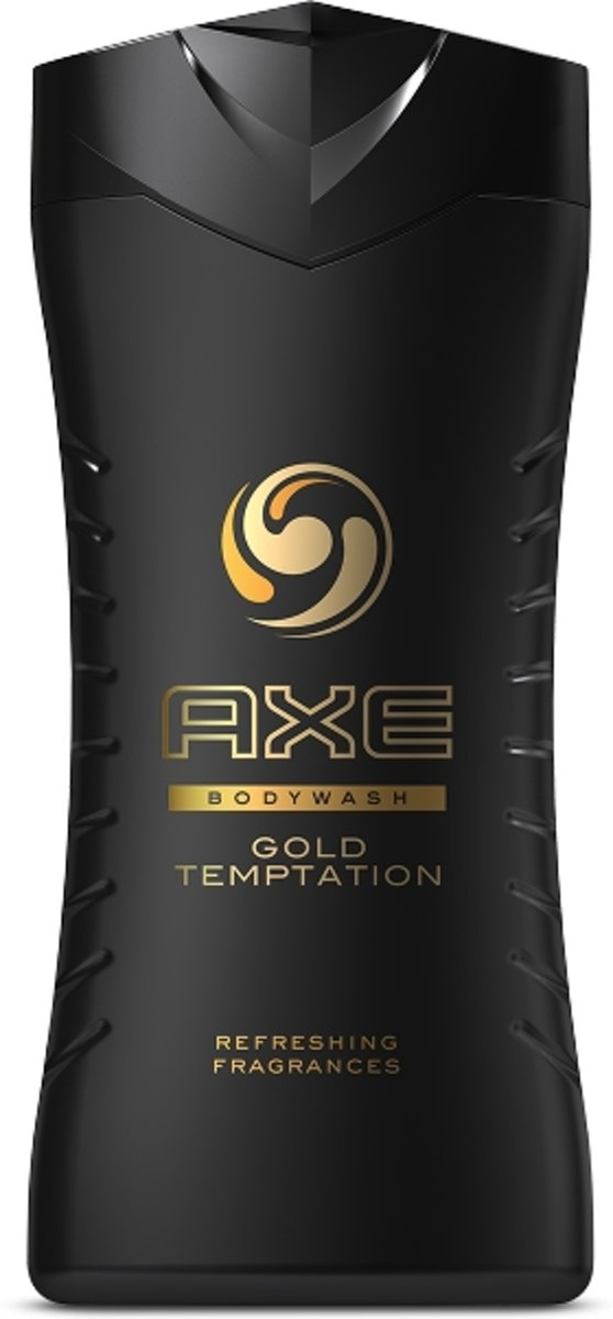 AXE Gold Temptation Mannen Lichaam Amber, Chocolade, Muskus, Peer, Vanille 250ml douchegel