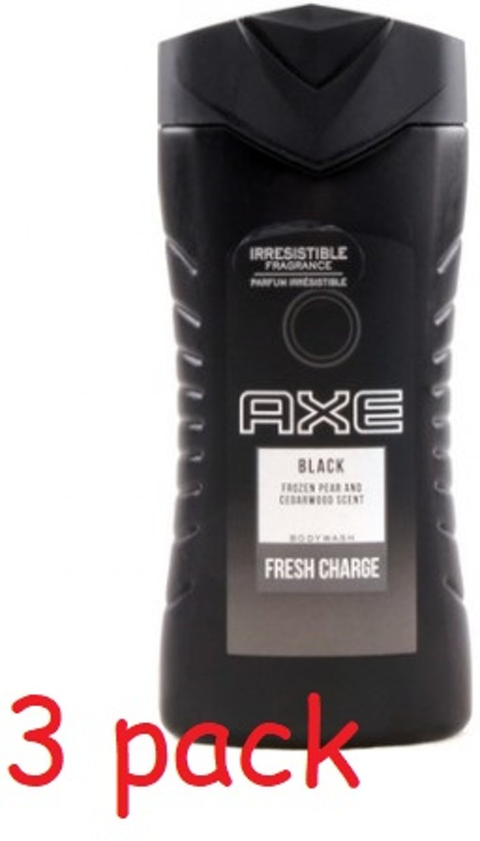 Axe Douchegel – Black 3 × 250 ml