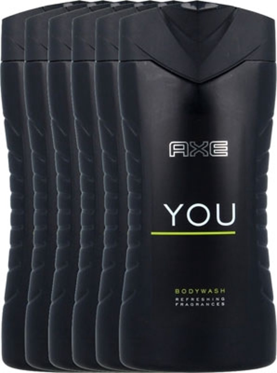 Axe You - 6 x 250 ml - Douchegel - Voordeelverpakking