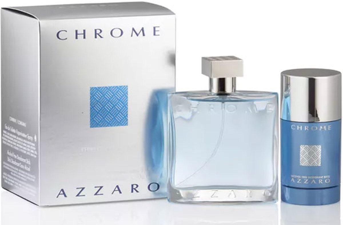 Azzaro Chrome -- - Gift Set 100 ml Eau De Toilette Spray + 5 oz Deodorant Spray Men