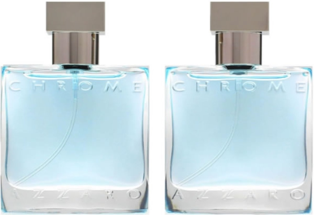 MULTI BUNDEL 2 stuks Azzaro Chrome Eau De Toilette Spray 2x30ml