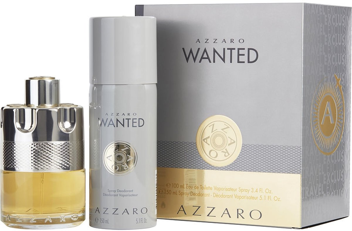 Wanted SET Eau de toilette spray 100ml + deodorant spray 150ml