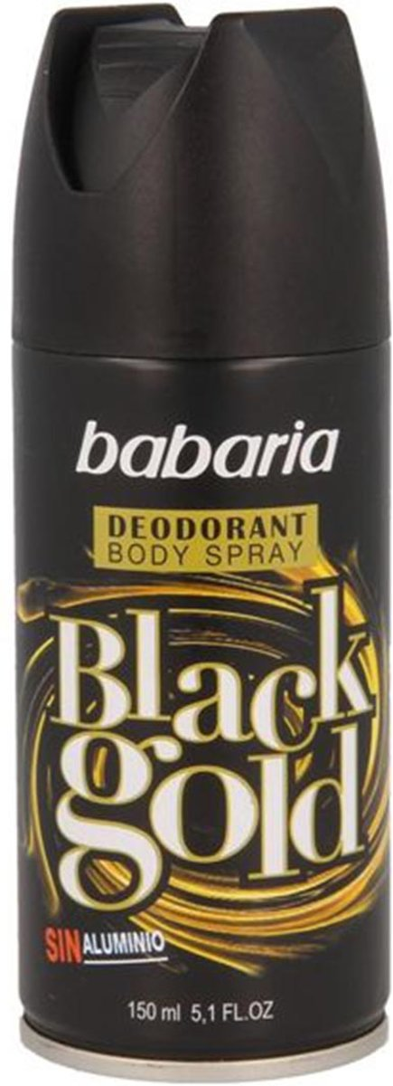 Babaria Black Gold Body spray Deodorant for Men 200 ml